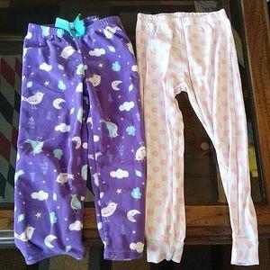 Carter's, girl's 4T pajama pants bundle